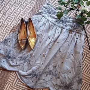 NWT Anthropologie Gray skirt womens size 12